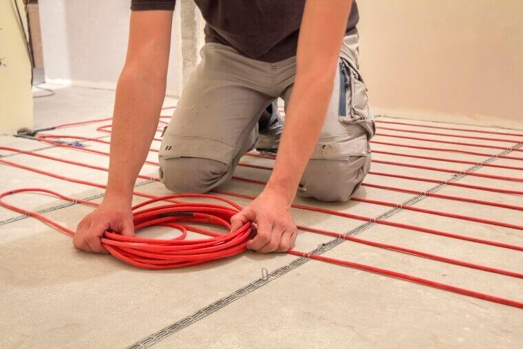 aanleggen elektrische vloerverwarming